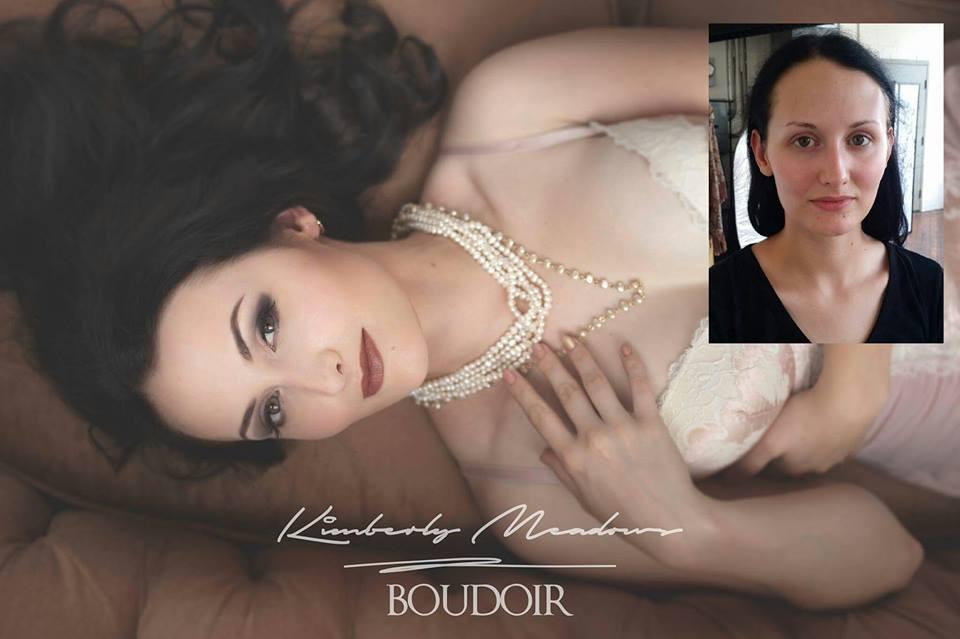 HMUA: Jesse Luxe Model: Bethany Baylor Photographer: Kimberly Meadows (Dirty Girl Boudoir)