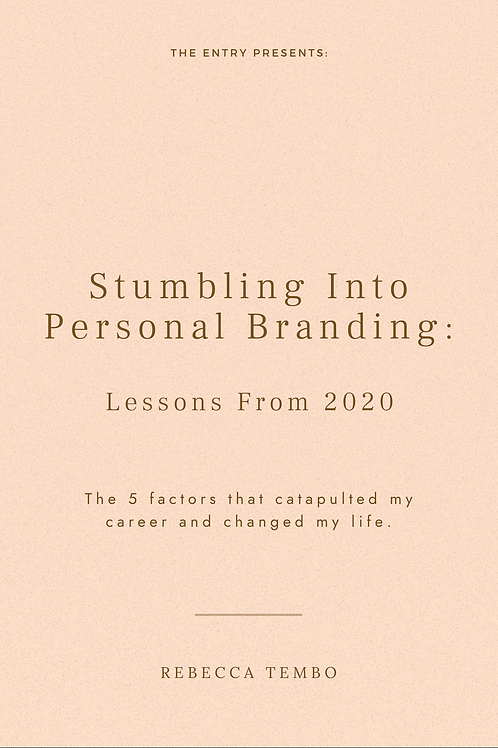 Stumbling into Personal Branding: Lessons from 2020