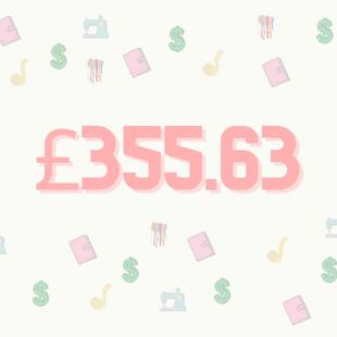 Spending £355.63 in a day in London.
