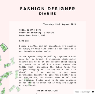 Fashion Designer Diaries: Day in the Life of Natasha Inman