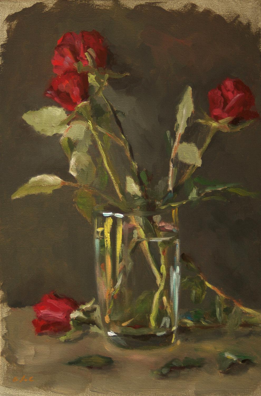 Les petites roses rouges
