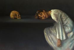 Vanité, jeune femme et la mort