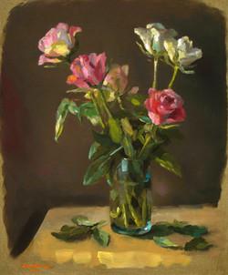 Les roses de l'atelier