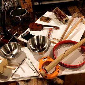 いろんな楽器とボウル