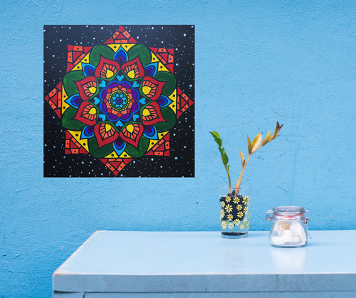 Chakra Mandala // Original Painting | Tree of Life Decor & Macrame ...