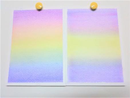 三原色パステルアートも本格的にスタートしています