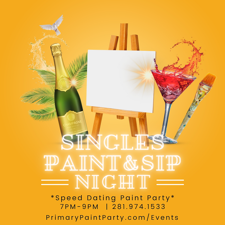 Singles Paint & Sip (Speed Dating)