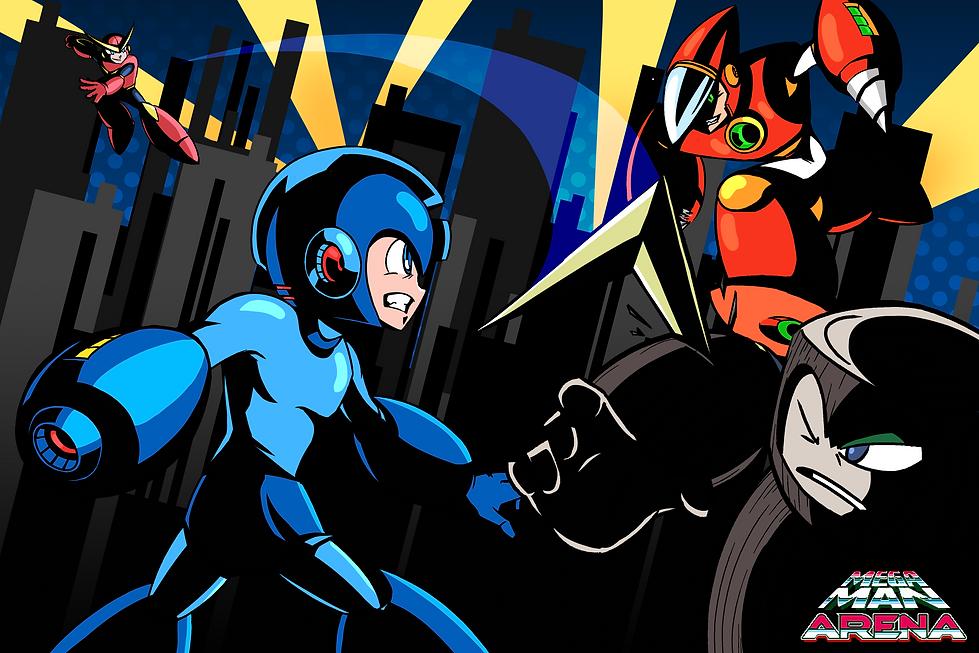 Mega Man Arena Artwork with Logo.png
