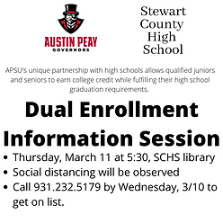 Dual Enrollment Information Session APSU
