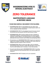 WHFC CLUB POLICY - ZERO TOLERANCE