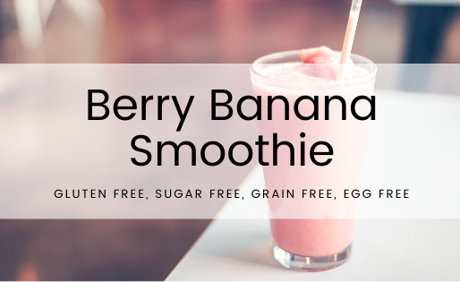 Breakfast on the go: healthy berry banana smoothie