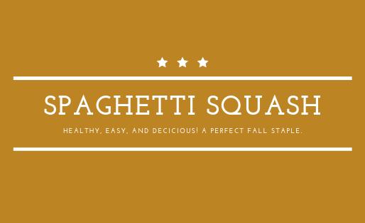 Spaghetti Squash - Healthy, delicious, and easy