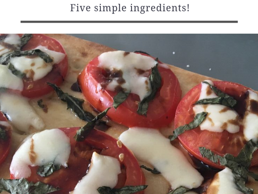 Semi-homemade 15 minute Caprese pizza!