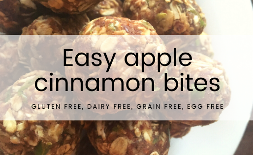 No bake gluten free apple cinnamon bites