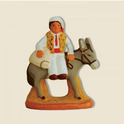 Meunier sur âne avec farine - 6cm