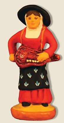 Joueuse de vielle- 6cm