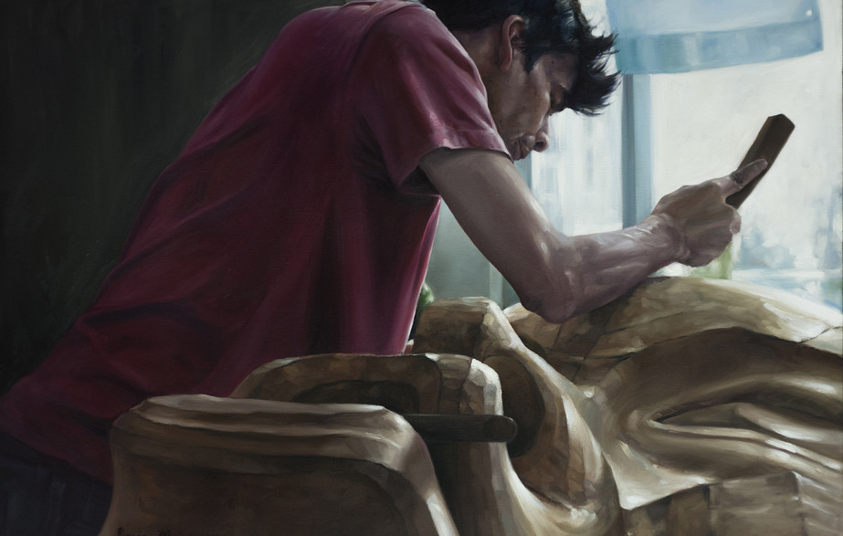 "Alan oil on  canvas 24"" x 30"" 2017"