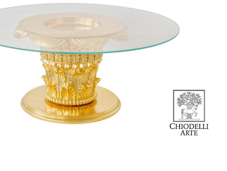 Custom Corinthian carving in a sublime, gold leaf coffee table - Read our latest newsletter