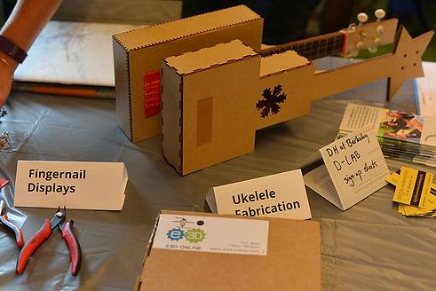 Ukulele Fabrication models at the BCNM Fall Open House