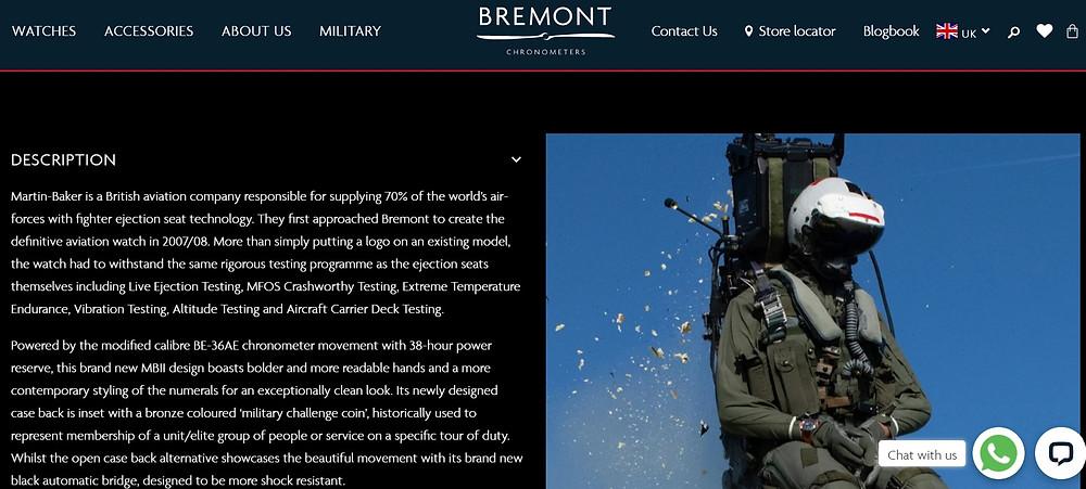 Bremont : exemple de description 3