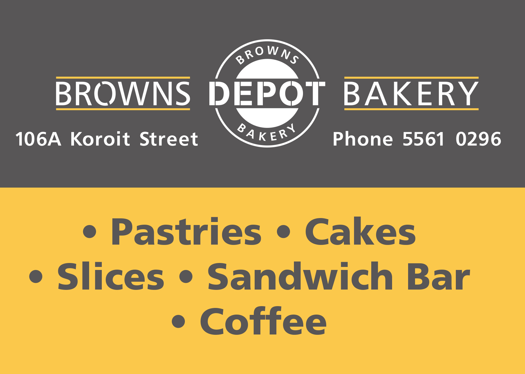Browns Depot Bakery