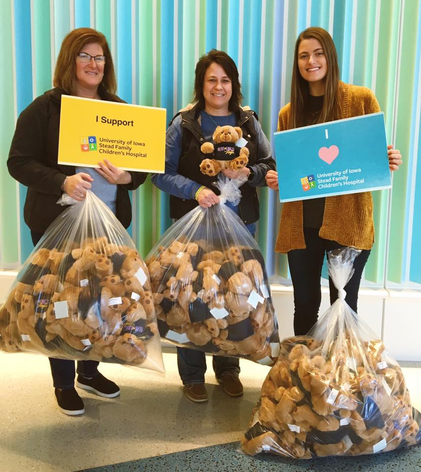 Decker's donate over 100 Kayla bears