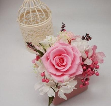 사다리꼴 핑크장미