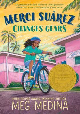 Book cover image: Merci Suárez changes gears / Meg Medina.