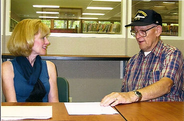Enterprise vet Norberg with Director McC
