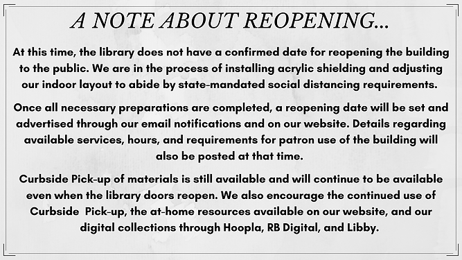 At this time, the library does not have
