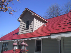 Husky Metal Roofs - Red Steel Shingle