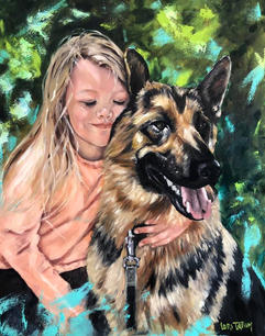 A Girl and Her Dog