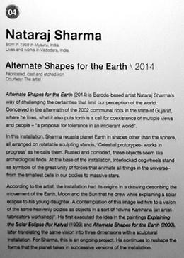04_Nataraj Sharma_b.1958, India_Altenate Shapes for the Earth (2014)