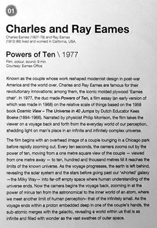 """01_Charles Eames (1907-78) and Ray Eames (1912-88), """"Powers of Ten"""" 1977"""