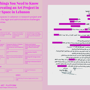 [note] A Few Things You Need to KnowWhen Creating an Art Project ina Public Space in Lebanon - T.A.P