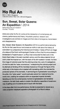 59_Ho Rui An_b.1990, Singapore_Sun, Sweat, Solar Queens: An Expedition(2014)