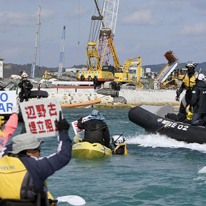 Japan's military tribute to U.S. kills endangered sea species living in the sea of Okinawa
