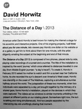 07_David Horwitz_b.1981, USA_The Distance of a Day (2013)