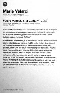 08_Marie Velardi_b.1977, Switzerland, Future Perfect, 21st Century (2006)