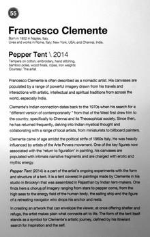55_Francesco Clemente_b.1952, Italy_Pepper Tent(2014)