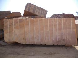 Rainbow sandstone block