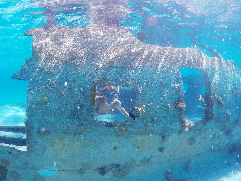 Exuma Plane Underwater