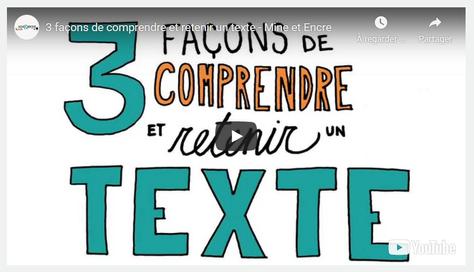 3 façons de comprendre et retenir un texte [VIDEO]
