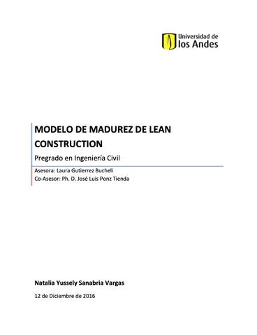 Modelo de Madurez de Lean Construction