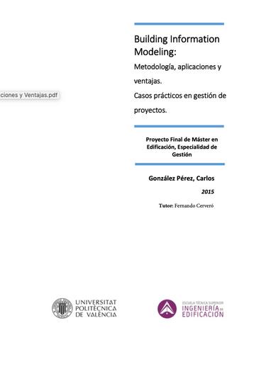 BIM Metodología Aplicaciones y Ventajas