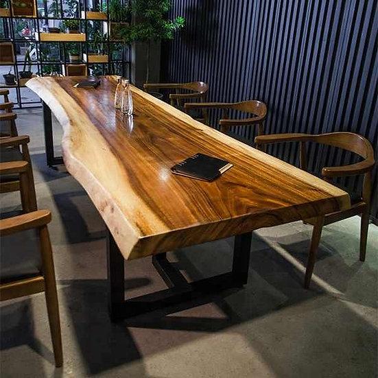 Masa rustica din lemn masiv de nuc