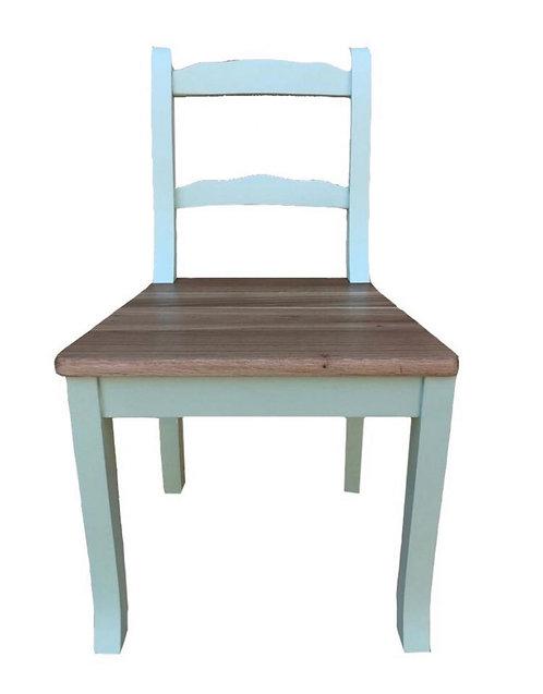 Scaun cu spatar din lemn masiv