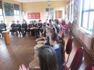 Drumming for Banogue!