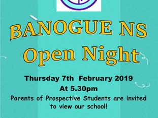 Banogue NS Open Night