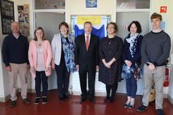 Staff with MEP Seán Kelly